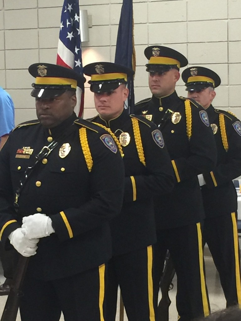 The City of Gonzales Police Department Honor Guard presented the colors at the morning's event.
