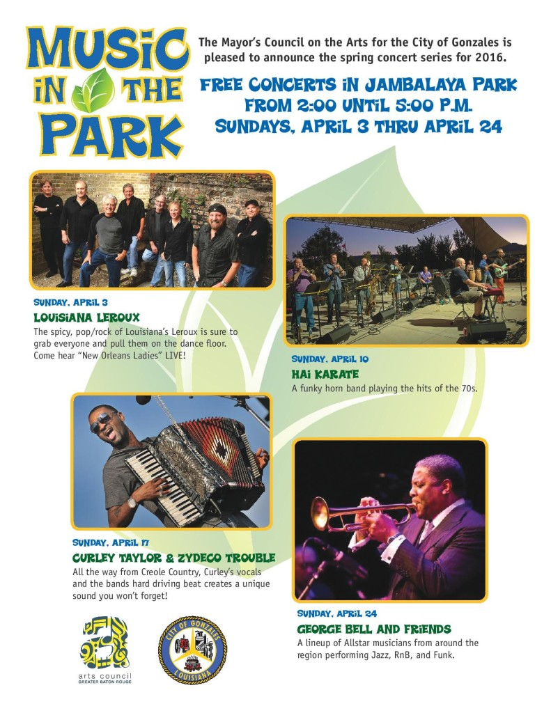 Music in the Park flyer