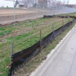 Silt fence correctly installed