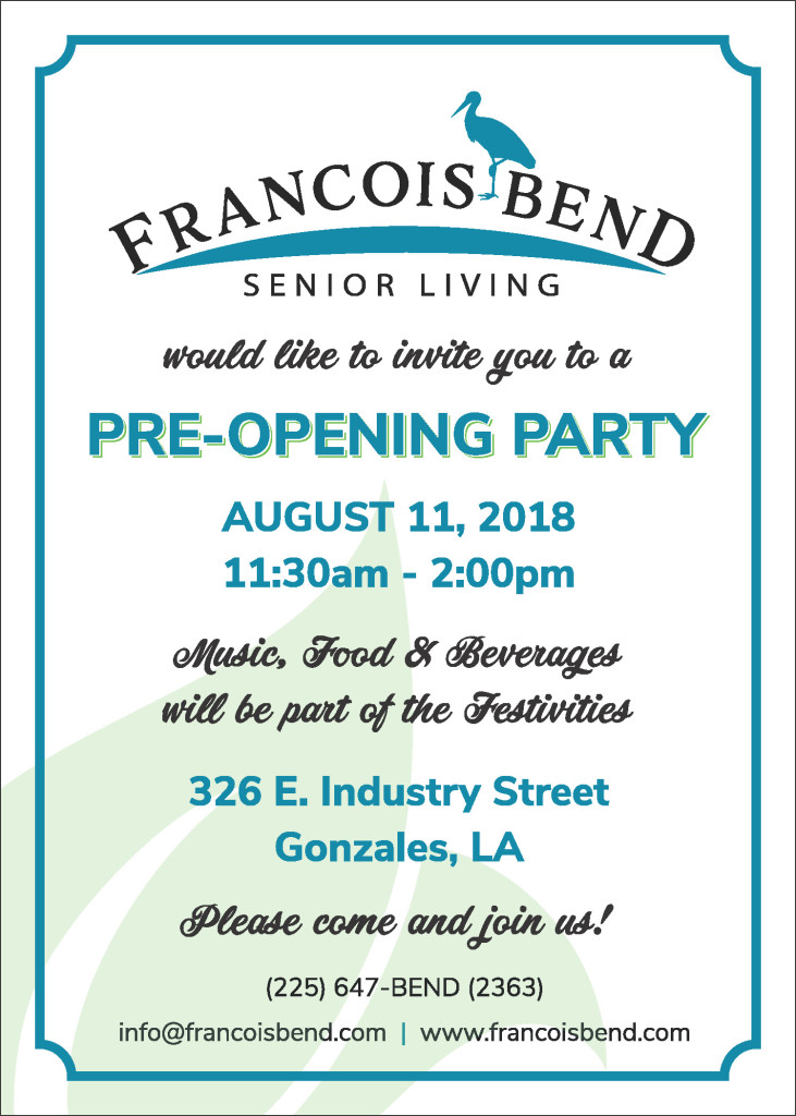 Francois Bend OPEN HOUSE Invite 5x7